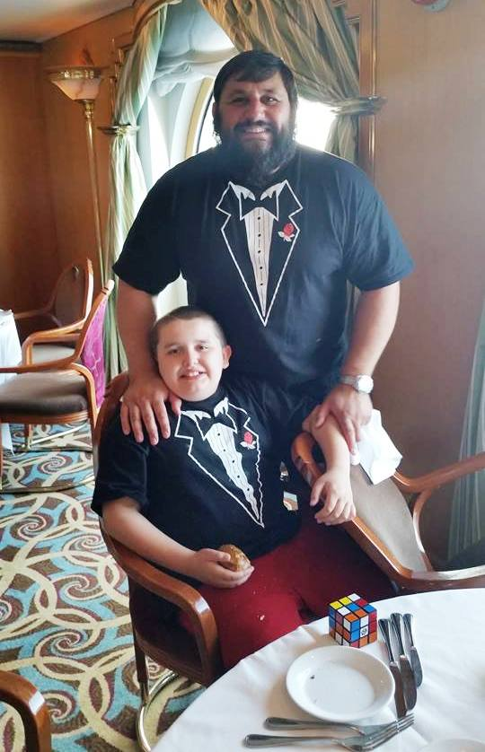 Father and Son with Tuxedo T-Shirts