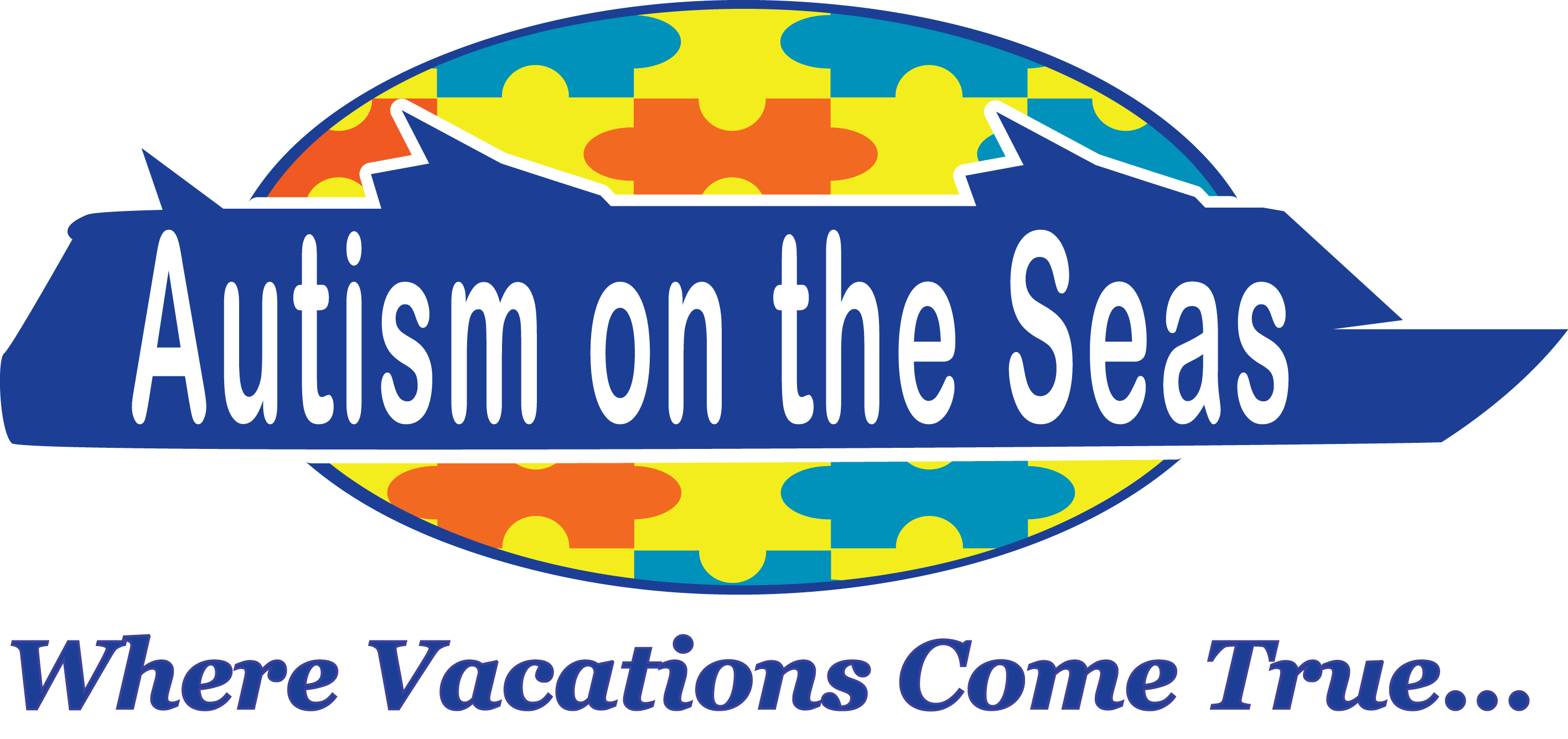 AutismontheSeas Logo 2015 Where Vacations Come True Blue