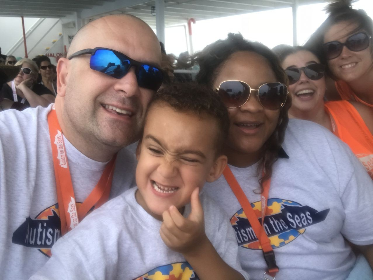 Camden, a pre-schooler with autism, makes new friends on his first Autism on the Seas cruise