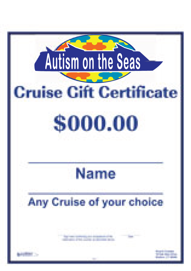 gift certificates autism on the seas